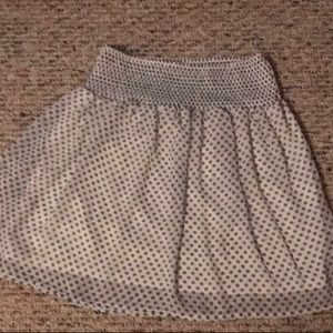 Old Navy White Ruched Flirty Skirt